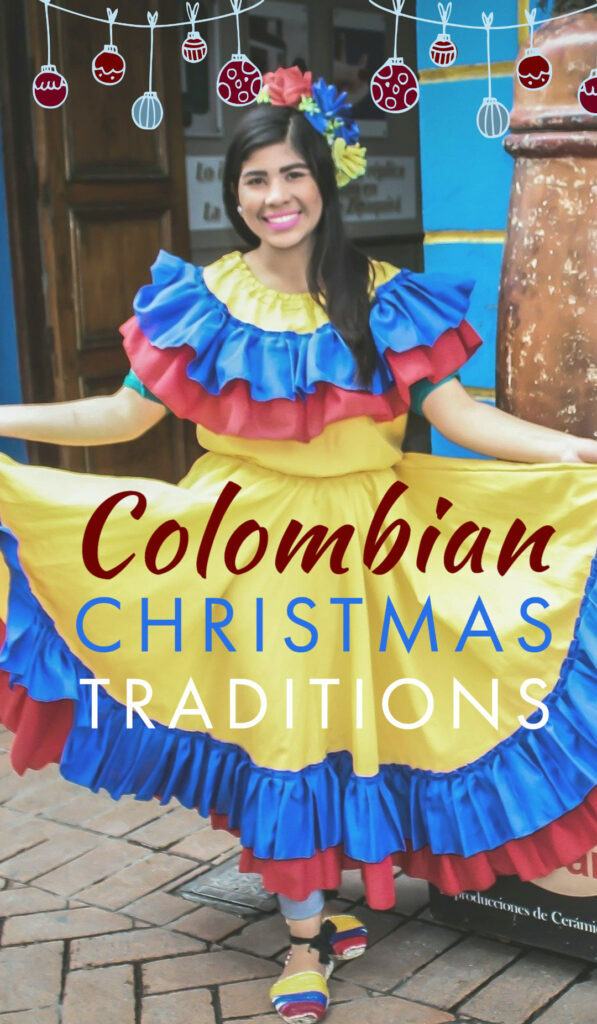 woman in traditional Colombian clothes